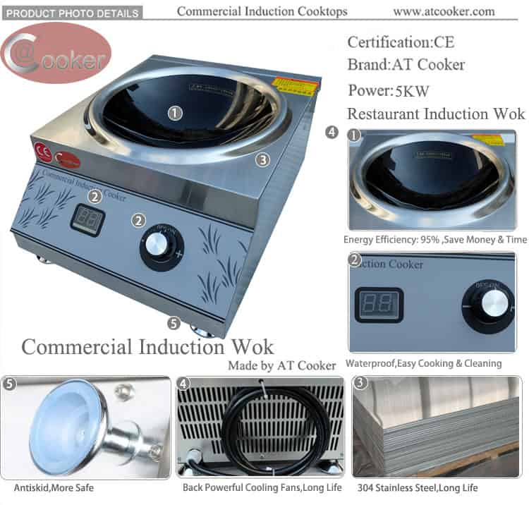induction wok cooker commercial wok burner manufacturers