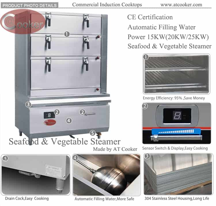 convection steamer commercial seafood steamer