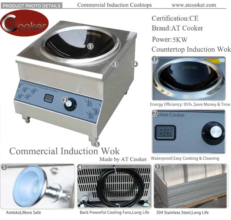 countertop wok burner commercial induction wok burner