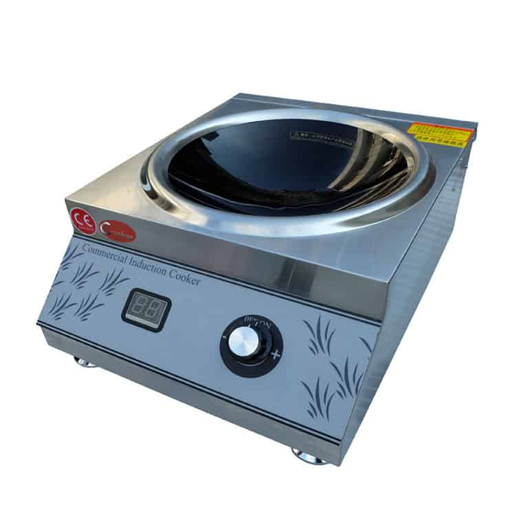 induction wok burner commercial