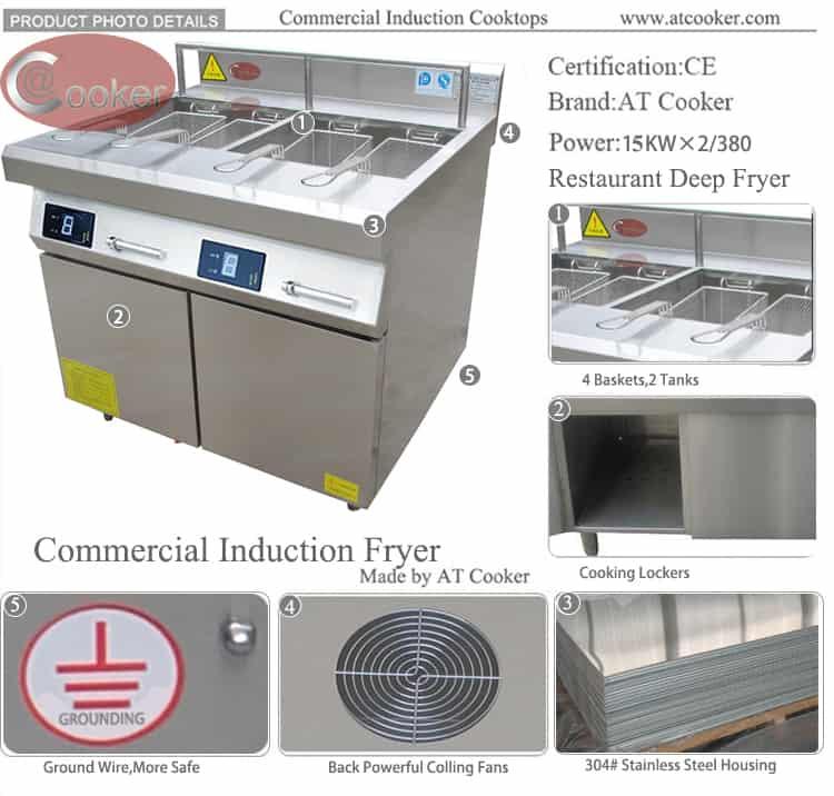 commercial grade fryer commercial induction fryer