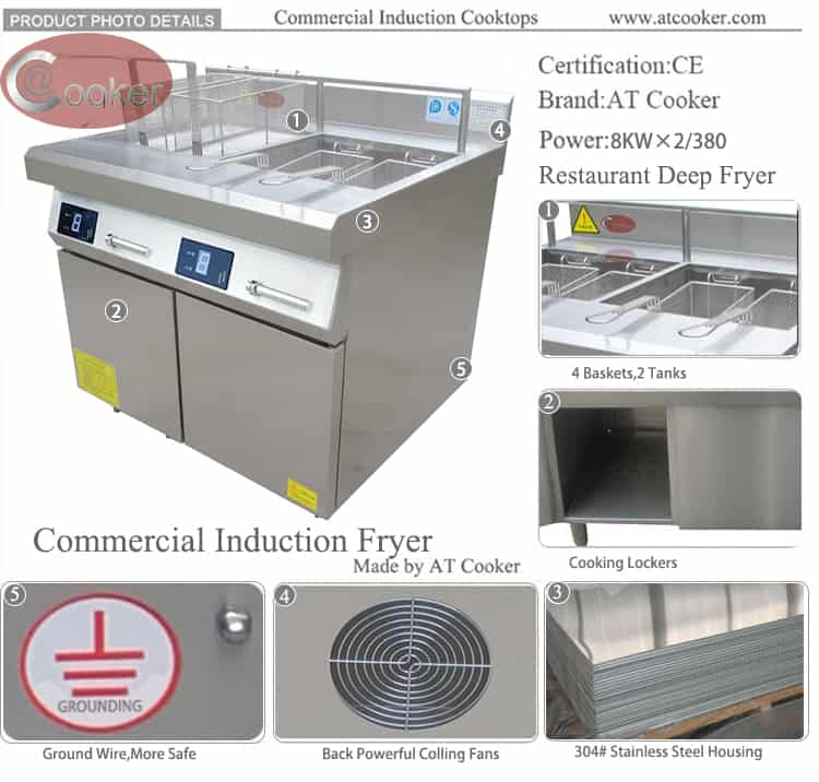 deep frying equipment commercial frying equipment CKE ZLT-A2S8 M750