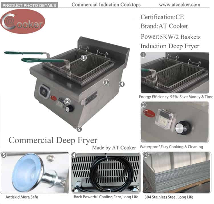 induction fryer induction deep fryer induction commercial deep fryer