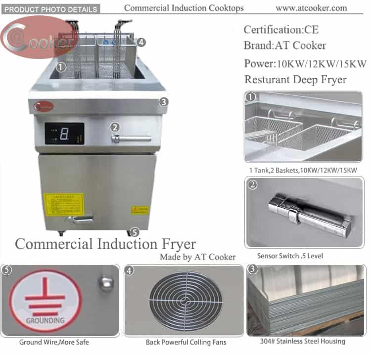 commercial deep fat fryer stainless steel deep fat fryer
