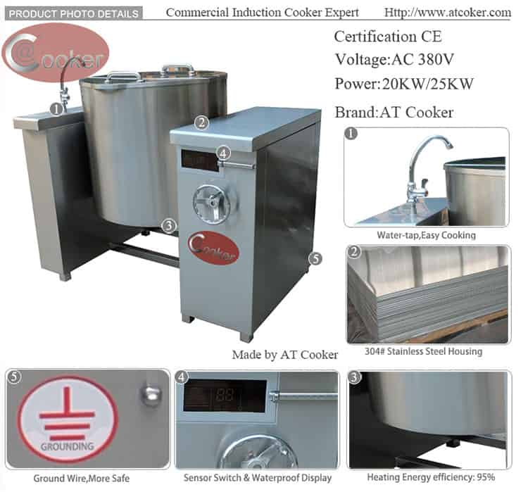 automatic tilting boiling pan